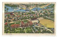 Aerial view of CONCORDIA COLLEGE Fort Wayne IN Vintage Indiana Postcard