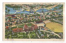 Aerial view of CONCORDIA COLLEGE Fort Wayne IN Vintage Indiana Postcard