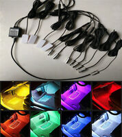 10M 12IN1 RGB LED Car Interior Decor Neon EL Fiber Optical Strip Light App BT