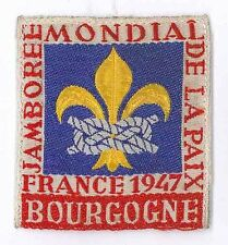 1947 World Scout Jamboree BOURGOGNE Sub Camp OFFICIAL PARTICIPANTS Patch