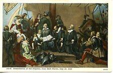 Pilgrims Pray-Ship-Delft Haven-Artwork-Washington D C Capitol-Vintage Postcard