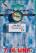 SCUBA pressure gauge ( button ) stainless steel ideal 4 pony bottle? 7/16 thread