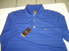 """NEW MENS GREG NORMAN ROYAL BLUE S/S  """"PLAY DRY"""" POLO GOLF SHIRT SIZE S"""