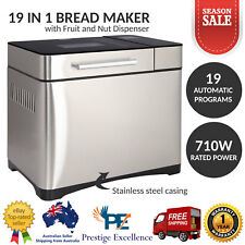 Stainless Steel 19 In 1 Bread Maker Machine w/ Automatic Fruit and Nut Dispenser