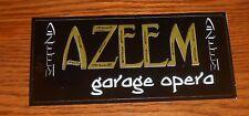 Azeem Garage Opera Sticker Rectangle 2000 Promo 6.5x3