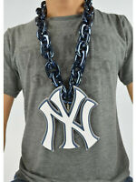 New MLB New York Yankees Navy Blue Fan Chain Necklace Foam Magnet - 2 in 1