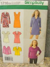 Simplicity 1716 D5 Size 4,6,8,10,12 Women Brand New