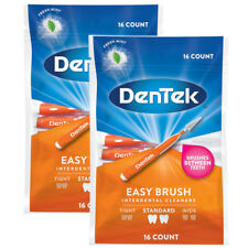 DenTek - Easy Brush - Interdental Bürsten Standard - Set mit 2 Packungen
