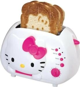 Hello Kitty 2 Slice wide Slot Toaster w/ Cool Touch Exterior Bagel