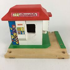 ERTL Hometown Wooden On The Go Roadway McDonald's Train Track Toy