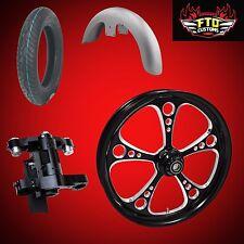 """Harley 26 inch Front End Big Wheel kit, Wheel, Tire, Neck, & Fender  """"3-Shot"""""""