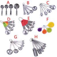 4/6ps Stainless Steel Measuring Cup Spoon Set Baking Scoop Teaspoon Kitchen Tool