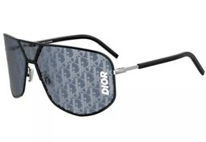 Christian Dior Homme DIORULTRA ULTRA 807/7R Black Grey Blue Lens Logo Sunglasses