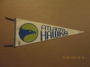 NBA Atlanta Hawks Vintage 1969 With Tasselles Team Logo Basketball Pennant