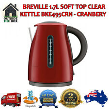 Kettle Breville 1.7L Clear Red Cranbery BPA Free Coffee Tea Hot Drin Heat 2400W