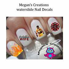Firefighters Wife Nail Art Decals