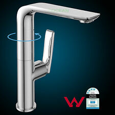 Tall Square Swivel Kitchen Basin Mixer Tap Laundry Sink Faucet Bath Spout WELS