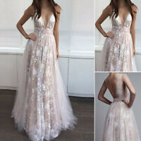 Bridesmaid Long Evening Party Ball Prom Gown Formal Wedding Cocktail Maxi Dress