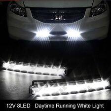 2pcs 12V 8LED Car Daytime Running CREE LED Projector Head Fog Driving Light Bulb