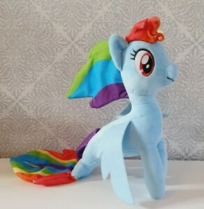 "11"" Soft Plush Rainbow Dash Sea Pony From My Little Pony"