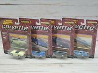 Lot of 4 Johnny Lightning Corvette Collection Die Cast Cars 1999 Chevy Chevrolet