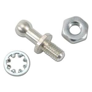 Edelbrock Carburetor Throttle Stud 8016; Hex Head Ball Stud Zinc Plated Steel