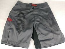 Wod Warrior Mma Men's Mixed Martial Arts Shorts Grey Red with Pocket Size 30