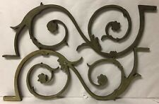 Vintage or Antique Architectural Salvage Metal Brass Bracket Corbel Ornate