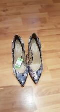 Fiore Ladies Heeled Shoes Multi Size 4 Euro 37 New