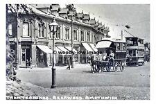 a0199 - Birmingham Tram at Bearwood Terminus , Smethwick - photograph