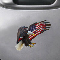 Bald Eagle USA American Flag Car Truck Sticker Laptop Window Bumper Cooler Decal