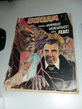 Scream #3 Skywald Horror movie Publication Magazine 1973 christopher lee dracula