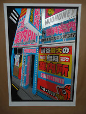 Mudhoney Chuck Sperry signed numbered concert poster print Tokyo Japan 2009