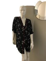 Katie's lightweight kimono in navy and floral design in size M/L