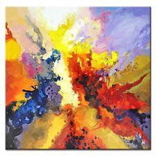 Modern Art.-Abstrakt-100x100cm-Ölbild handgemalt Leinwand Signiert G97083