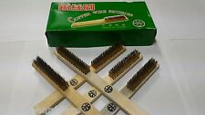 Wooden Handle Brass 5 rows Copper Wire Brushes Cleaning brush - 2pc.of pack