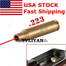 US CAL .223 REM Boresight Red Dot Laser Bore Sight Cartridge Boresighter&battery