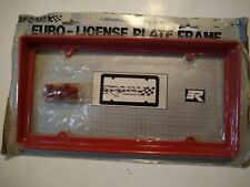 Vintage Red Plastic Euro License Plate frame