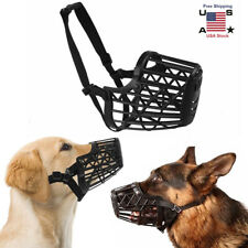 Large Pet Dog Basket Cage Muzzle Mouth Cover Mesh Cage NoBarking Biting Chewing