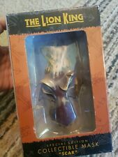 "Disney'S The Lion King ""Scar"" Special Edition Collectible Mask Boxed"