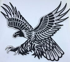 eagle bird hawk patch embroidered sew on motorcycle biker large back patch logo