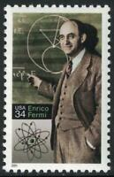 Scott 3533- Enrico Fermi, Physicist- MNH 34c 2001- unused mint stamp
