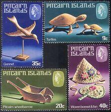 Pitcairn Is 1980 Turtles/Bird/Bonnet/Fan/Handicraft/Craft/Animals 4v set n23452