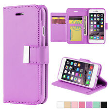 Leather Wallet Magnetic Flip Card Holder Stand Case Cover for Apple iPhone 7