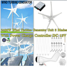 2400w Wind Turbine Generator Unit 5 Blades With Power Charge Controller Dc 12v