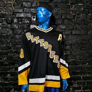 Vintage Starter Pittsburgh Penguins Jaromir Jagr Jersey Hockey Shirt Mens SZ XL