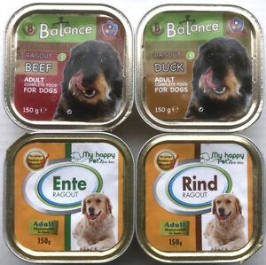 132 x 150g Hundefutter Nassfutter verschiedene Sorten Pastete und Ragout