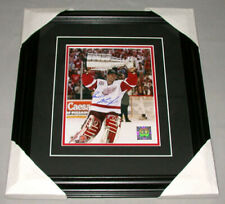 NHL 2002 Detroit Red Wings Stanley Cup Dominik Hasek Signed Framed Hockey Photo