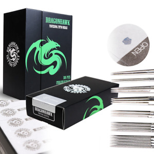 Dragonhawk Silver Series Tattoo Needles Assorted Liners and Shaders 50 Pcs Disp