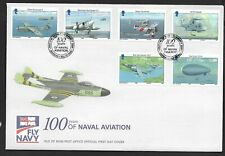 GB Isle of Man 2009 FDC 100 Years of Naval Aviation fine used stamps